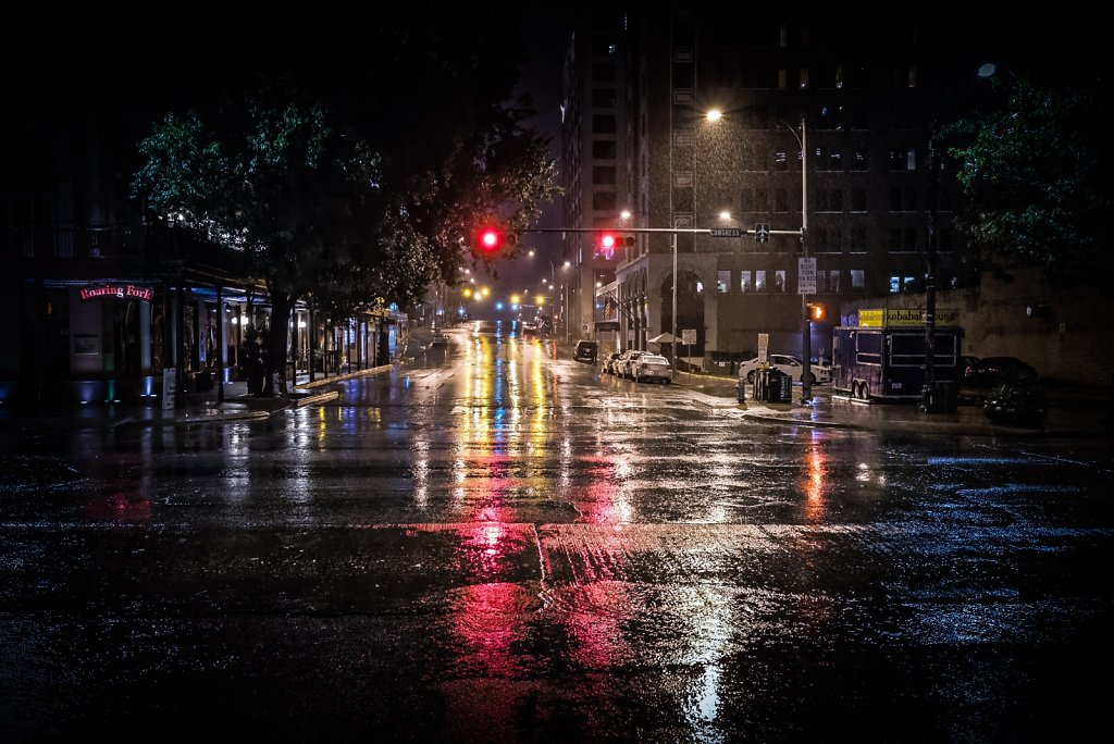 7th And Congress On A Rainy Night.