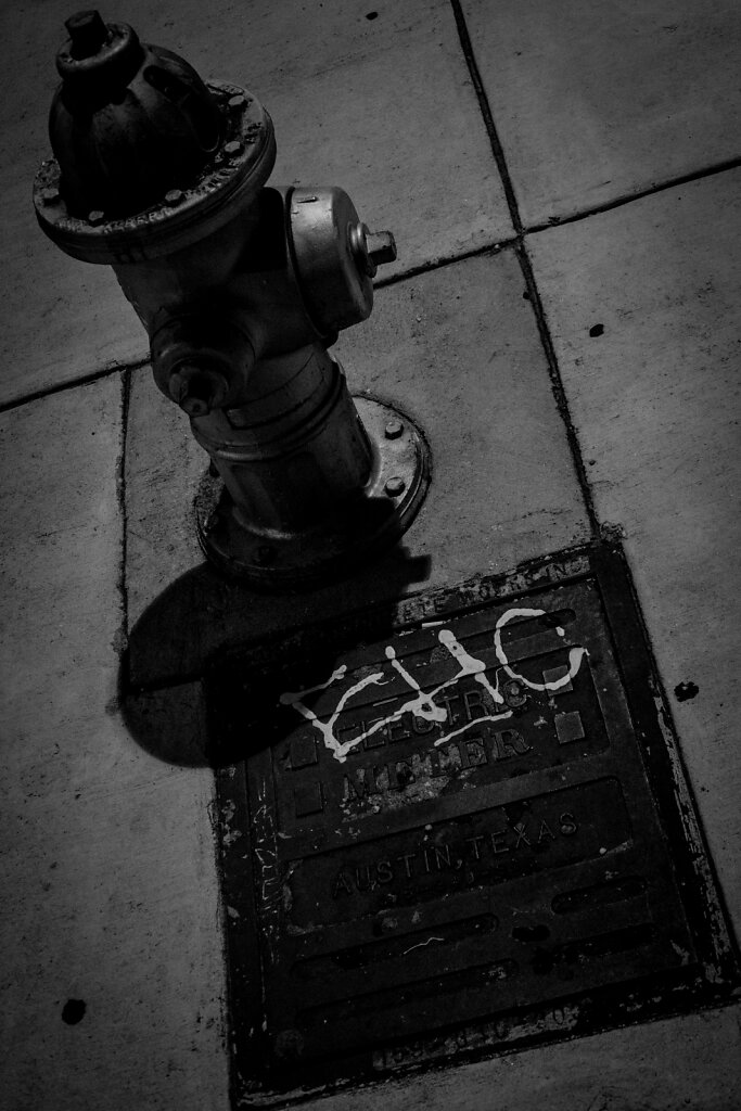 Fireplug, South Congress and Monroe.