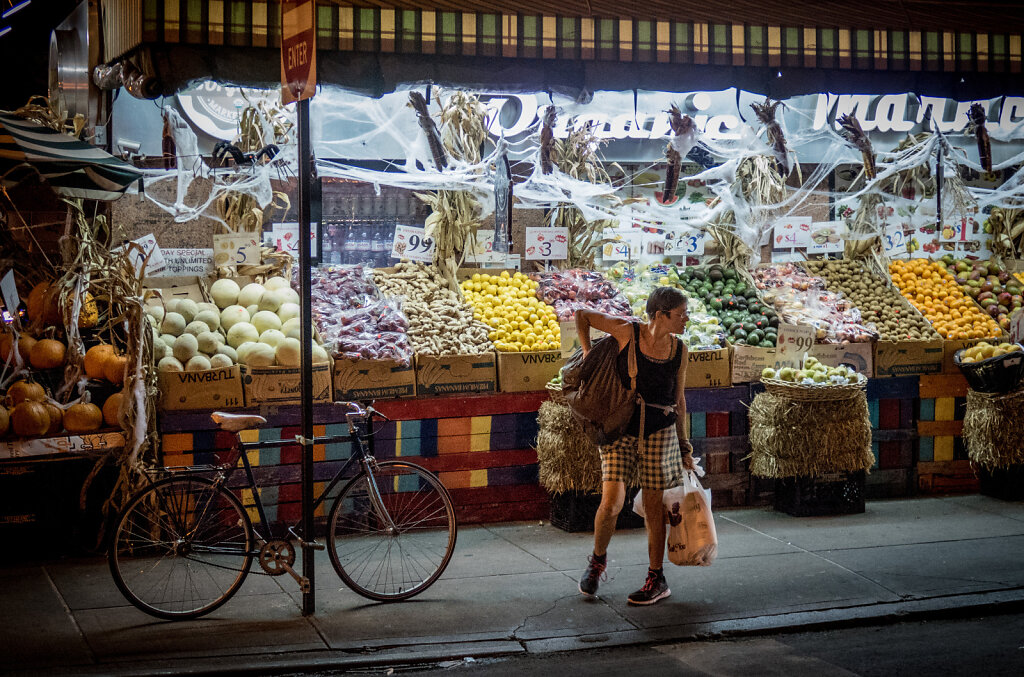 Fruit and vegetable stand, Chinatown.